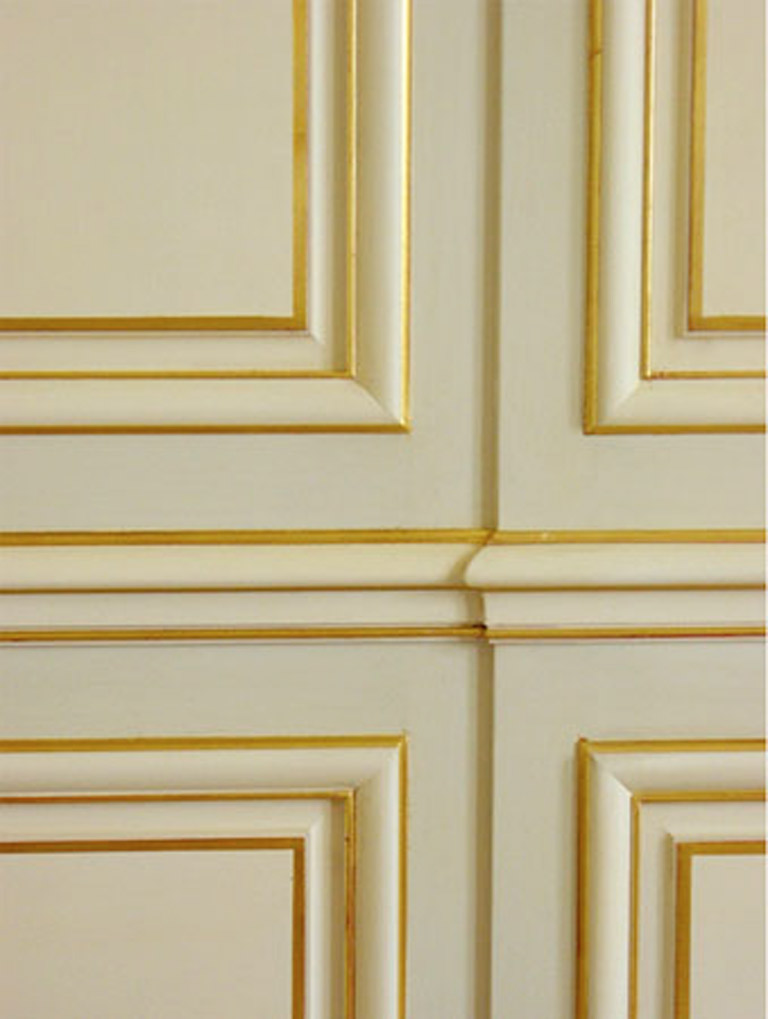 Gold Wall Paneling : Faux painting